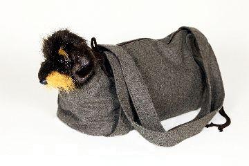 Tragetasche für Hunde aus Loden